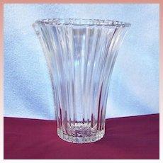 Hocking Old Cafe Depression Glass Vase