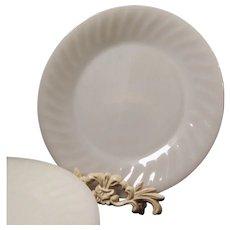 SET of SIX: White Fire King Swirl Dinner Plates