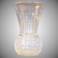 "Vintage 9"" Clear Anchor Hocking Pineapple Vase"