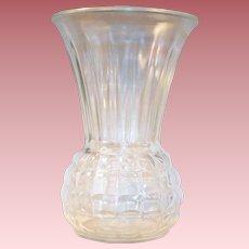 "Vintage 9"" Clear Anchor Hocking Pineapple Vase"
