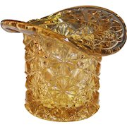 Sparkling Light Amber Daisy & Button Top Hat