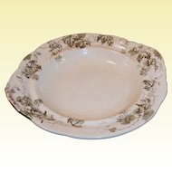 Antique Dresden Hopfen Butter Dish Plate by Alfred Meakin of England