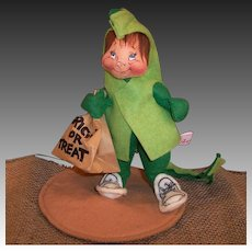 "Annalee Trick or Treat Kid Halloween Dragon Costume 8"" Doll"