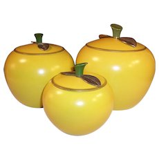 Golden Delicious Apple Canister Set