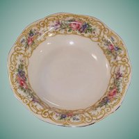 "Baronet China: ""Plaza"" Rimmed Fruit / Berry Bowl 5 1/2"""