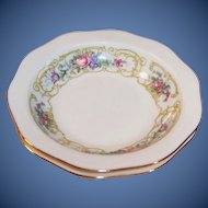 """TWO: Baronet China: """"Plaza"""" Rimmed Fruit / Berry Bowls 5 1/2"""""""