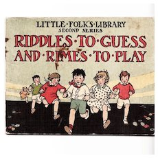 C. 1928:  Riddles to Guess and Rimes to Play