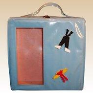 Vintage 1960's Blue Vinyl Doll Case
