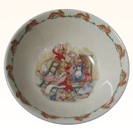 "Royal Doulton Bunnykins Children's or Baby 6"" Cereal Bowl,  Home Decorating Scene"