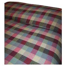 Vintage Bates Disciplined Textured Squares Multi Color Bedspread