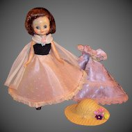"""Excellent American Character  8"""" Betsy McCall Doll / 2 Prom Time Evening Gowns"""