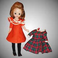 "1950's American Character 8"" Betsy McCall; 2 Dresses, Tights, Shoes, Stand"