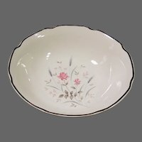 Midcentury Pink Rose Serving Bowl