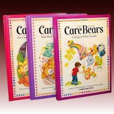 Original 1980's Care Bears Large Books (Set of 3)