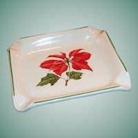 Cuthbertson Poinsettia Christmas Ashtray