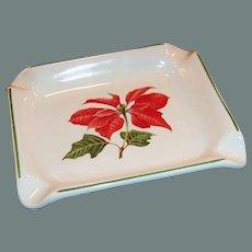 Cuthbertson Red Poinsettia Christmas Ashtray