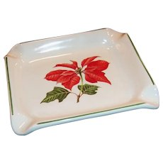 Cuthbertson Poinsettia Christmas Ashtray