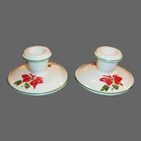 Cuthbertson Christmas Poinsettia Candle Holders
