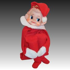 Vintage Wind Up Animated Knee Hugger Elf