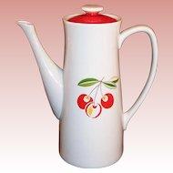Harmony House China Cherries Cherry Jubilee Coffee Pot