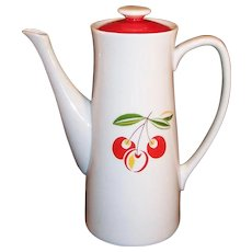 Harmony House China Cherries Cherry Jubilee Coffee Pot