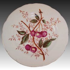 Antique Decorative Cherry Design Plate