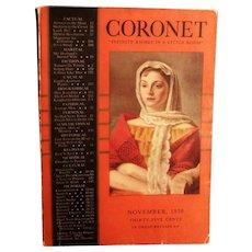 November 1938 Coronet Magazine - Red Tag Sale Item