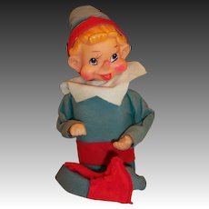 Large Christmas Wind Up Musical Jingle Bells Animated Pixie Elf