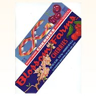 Set of 2: Original New, Old Stock, Cherry Crate Labels