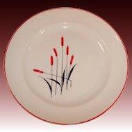 Universal Cambridge Potteries Cattails Dinner Plate
