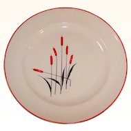 Universal Cambridge Potteries Cattails Dinner Plate