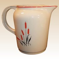 Universal Cambridge Potteries Cattails 40 OZ Pitcher / Jug