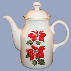 Cuthbertson Christmas Poinsettia Coffee Pot
