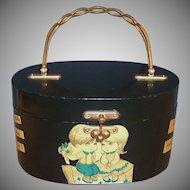 "Handmade Decoupaged Wooden Box Purse ""Young Love"""