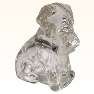 Vintage Glass Dog Candy Container