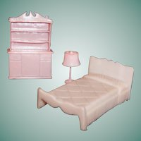 1960's Pink Plastic Bedroom Furniture  *(Please See Special Offer)