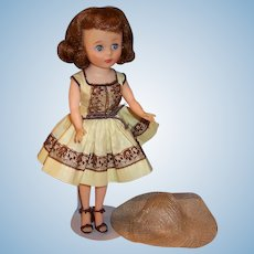 Excellent 1950's American Character Toni Doll -- Shopping Time Outfit and Brassalette