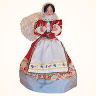 "Eros 8"" Costume Doll Lace Mantilla Made In Italy"