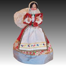 """Eros 8"""" Costume Doll Lace Mantilla Made In Italy"""