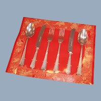 """4"""" Vintage Flatware Set for Doll -- Made in Germany New in Package"""