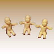 Vintage Molded Plastic Doll House Dolls