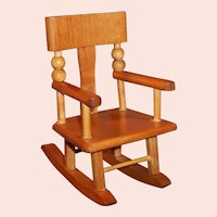 "Vintage Wooden Doll Rocking Chair  for 8"" Dolls (Ginnette, Ginny, Muffie etc...)"