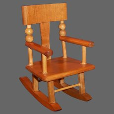 """Vintage Wooden Doll Rocking Chair  for 8"""" Dolls (Ginnette, Ginny, Muffie etc...)"""