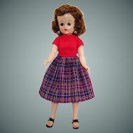 Vogue 1950's Brunette Jill Doll BKW (Bent Knee Walker)