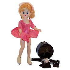 Lovely! 1950's Vogue Jill Doll Skating Outfit, Hat Box, Leotard and more...