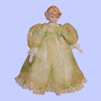 """Vintage Signed Mark Farmer 10"""" Porcelain Doll"""