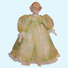 "Vintage Signed Mark Farmer 10"" Porcelain Doll"