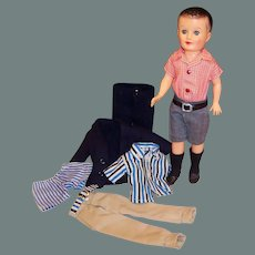 1950's Vogue Jeff  Doll: Shorts, Shirt, Blue Wool Suit and more....