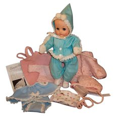 Vogue 1950's Ginnette Doll Baby;  Snow Suit, Overalls, Shirt, Romper, Shoes, Socks & More...