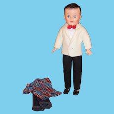 Vogue Jeff Doll; Tuxedo (Shirt, Pants, Jacket , Cummerbund, & Bow Tie),  Jeans & Shirt Outfit, Shoes